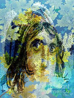 Abstract Art Depicting 'The Gypsy Girl Of Zeugma'.