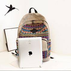 845680dc9141 New 2015 Canvas Women Backpacks School Bags for Teenagers Girls Bolsas Mochilas  Escolares Femininas Rucksacks H614