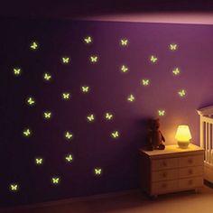 StickersWall Glow in The Dark Butterfly Wall Stickers
