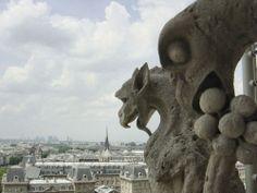 Gargoyles over Paris from Notre Dame