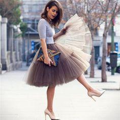 Sweetgirl New 7 Layers 2016 Tutu Tulle Skirts Midi skirt Women Fashion Party Design (XXL) New Years Eve Outfits, Tulle Skirts, Skirt Pleated, Midi Skirts, Tulle Dress, Pink Tulle Skirt, Draped Skirt, Denim Skirt, Ballet Tutu