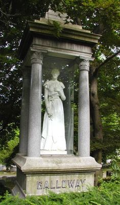 Fenton History Center - Grace Galloway also known as The Lady in Glass at Lakeview Cemetery in Jamestown NY