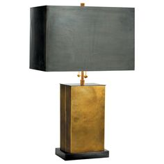 Visual Comfort TOB3032HAB-BZ-BZ Thomas O'Brien Table Lamps Dixon Small Table Lamp in Hand-Rubbed Antique Brass with Bronze with Bronze Shade