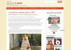My Cooking Magazine: 10 trends for wedding cakes Top 10 trends in Wedding Cakes by Julie Deffense