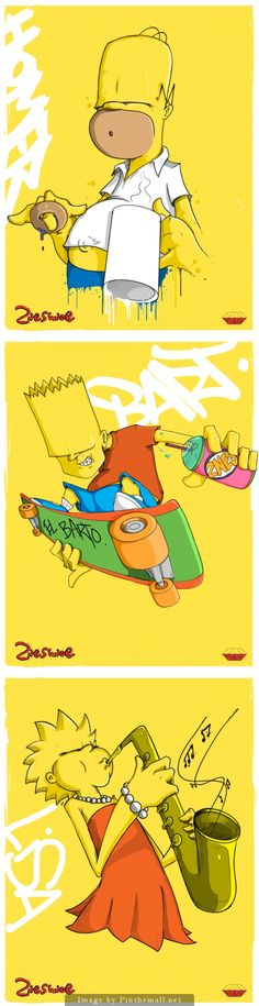 Simpsons illustration