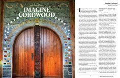A beautiful 3 page, full color article in Faerie Magazine.  Read the entire article at http://cordwoodconstruction.wordpress.com/2014/07/26/imagine-cordwood/
