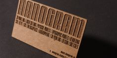 The chipboard business card by nanogram.co