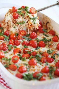 Cheesy Caprese Chicken & Quinoa Casserole
