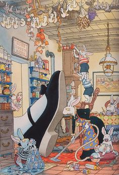 Alice's Wonderland Ch.1 Down The Rabbit Hole| Serafini Amelia| Madame Le Lapin Blanc, Gilles Bachelet