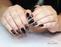 Nail art. zdobienia www.naillook.pl paznokcie nail nails nailart salonnails longnails black