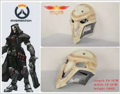 Overwatch Reaper Helmet White Cosplay Mask PVC Material