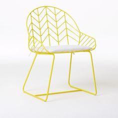 west elm bend outdoor chair