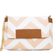 Chevron print side purse