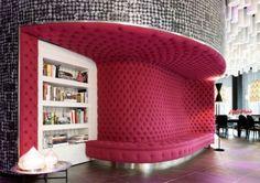 Pink Cushion: SeatBarcelo Ravel Hotel Design by Jordi Gali