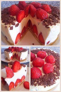 Erdbeer-Vanille Torte  Www.manufaktur-Blessing.de