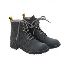 Romeo Combat Boots <span>Slate Grey</span>