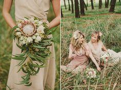 Interesting (and lovely) take on a cascade bouquet