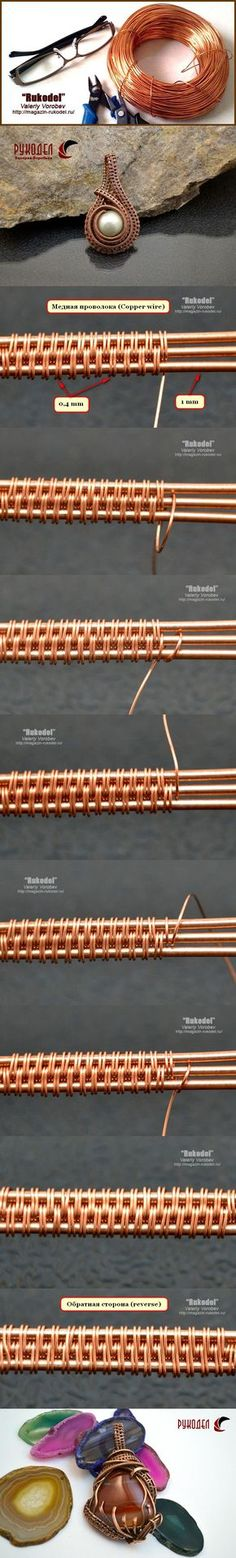 Wire wrap tutorial. Оплетки из проволоки Wire Wrapping. | Рукодел