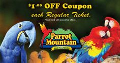 Parrot Mountain and Gardens, 1471 McCarter Hollow Road   Pigeon Forge, TN 37862 Phone: 865.774.1749 Fax: 865.428.7798