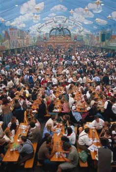 Have a beer in Munich Germany during Oktoberfest