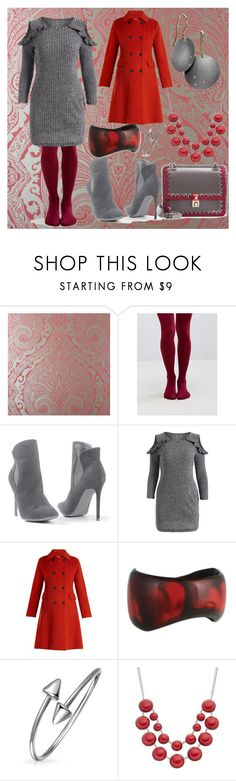"""""""Color combinations:Garnet and Grey"""" by fandom-girl365790 ❤ liked on Polyvore featuring Nina Campbell, Gipsy, Venus, Weekend Max Mara, Bling Jewelry and Fendi"""