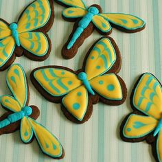 butterfly & dragonfly cookies
