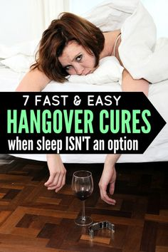 Whether you've got a full-blown hangover from too much champagne on New Year's Eve, or just feel sluggish and gross after one too many glasses of wine on a Monday night, this list of 7 hangover cures is JUST what you need to make yourself feel human again when sleep isn't an option.