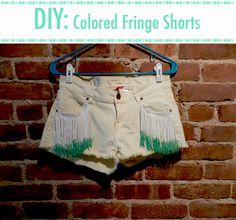 Fashionista NY Girl's DIY Fringe shorts using our fringe http://www.mjtrim.com/trims-chains/fringe.html