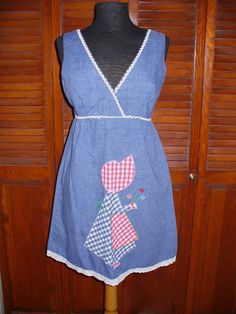 Vintage 70's Silly Empire Waist Mini Dress by flashytrashhag, $38.00