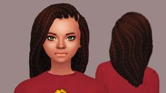 """butterscotchsims: """" Violet Hair New hair! It's pretty much just the braids from Get Together pushed back. I hope you guys like it :^) • Teen-Elder Females • Base game compatible • All 18 EA Colors • Hat compatible • Recolors/Retextures allowed but..."""
