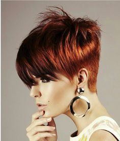 This Fiery Red Pixie Is Simple Amazing. The Stylist Behind This Haircut Is  Brilliant Combining A Messy Look To This Cut That Almost Looks Likeu2026 | Hair !!!