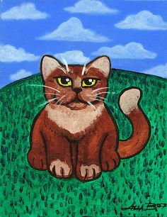 """Fat Cat on the Hill"" by Asia Barsoski 