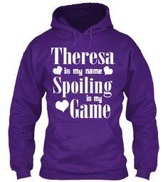 Theresa Is My Name Purple Sweatshirt Front