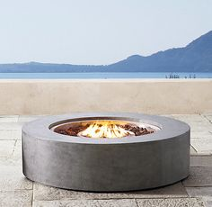 Mendocino Natural Gas Round Fire Table Restoration Hardware