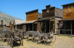 Town includes original cabins used by Butch Cassidy and the Sundance Kid and a saloon frequented by Cassidy's Gang.