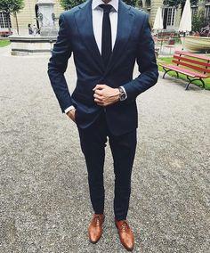 Royal Blue Men Suit #mensfashion