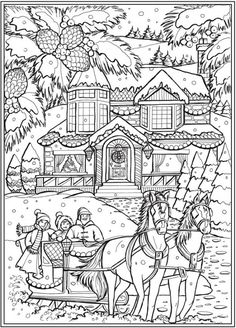 6 Country Christmas Coloring Pages – Stamping