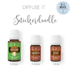 Snickerdoodle in the Diffuser: The Stress Away contains vanilla, so combined wi. Snickerdoodle in the Diffuser: The Stress Away contains vanilla, so combined with the Cinnamon and Nutmeg, YUM! Vanilla Essential Oil, My Essential Oils, Essential Oil Diffuser Blends, Young Living Essential Oils, Diffuser Recipes, Aromatherapy Oils, Yl Oils, Young Living Oils, Living At Home