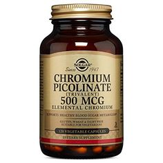 Solgar Chromium Picolinate only contains Chromium mineral Helps control glucose level & help maintain heathy eyes It can also help lower cholesterol, help with weight loss, & also be use to treat acne  #diabetessupplement #diabetescure #herbalsupplement #nutrition #diabetic