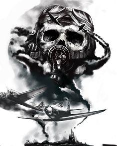 Army Tattoos, Military Tattoos, Skull Tattoos, Body Art Tattoos, Sleeve Tattoos, Gas Mask Art, Masks Art, Tattoo Sketches, Tattoo Drawings