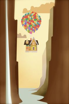 """UP"" by Robbie Thiessen, via Behance. #Up #Disney #Graphicdesign #art #poster"