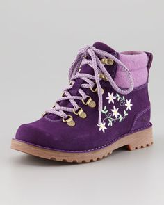 """Lydia's """"frivolous college hiking boots"""" are similar to this, but a trifle more worn!"""