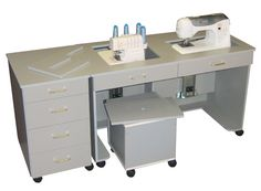 Sewing table. LOVE. Yes please! I long for my sewing machine to be flush!!