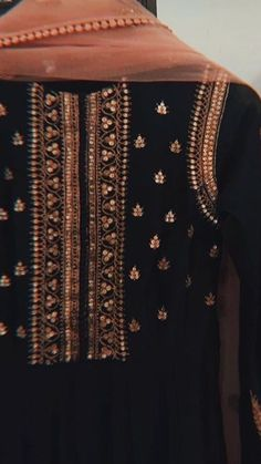 Beautiful embroidery with sequins and zari-dori.