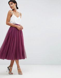 Image 1 ofASOS WEDDING Tulle Prom Skirt with Multi Layers