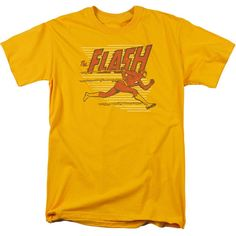 Flash Speed Lines on Gold T-Shirt