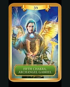 Affirmation: My throat chakra is open to its perfect, healthy state, spinning with the beautiful energy of freedom and self-empowerment. I am free to express myself in every way ~Fifth Chakra, Archangel Gabriel card from Energy Oracle Cards by Sandra Anne Taylor~