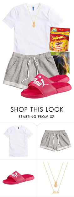"""""""Free"""" by aniahrhichkhidd ❤ liked on Polyvore featuring H&M, Puma and Forever 21"""