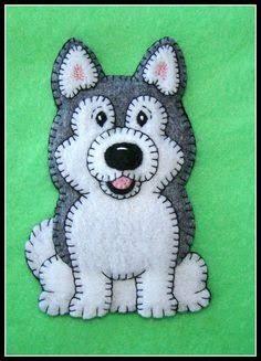 felt dog ornaments ile ilgili görsel sonucu