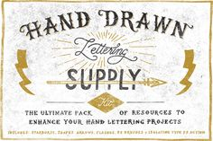 Check out Hand Drawn Lettering Supply Kit by Vintage Design Co. on Creative Market